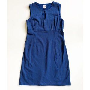 Anne Klein Blue Keyhole Ponte Sheath Dress Sz 8
